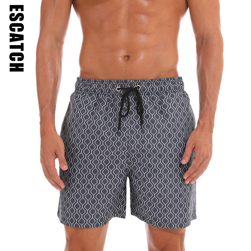 2019 New Men's Swim Trunks Quick Dry Beach Shorts with Pockets Short Swiming Trunks with Mesh Lining Swimwear Bathing Suits