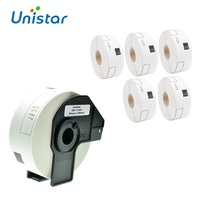 Unistar 6 Rolls DK 11201 Brother Labels Compatible DK1201 Labels 29mmX90mm with Permanent Cartridge for Printers QL570 QL1050