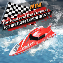 Mini RC Speedboat 2.4G 4CH High Speed Remote Control Ship Electronic RC Racing Boat Toys for Boys gift