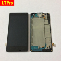 Black Original Full LCD Display Touch Screen Digitize Assembly Frame For Huawei Honor 3C G740 H30