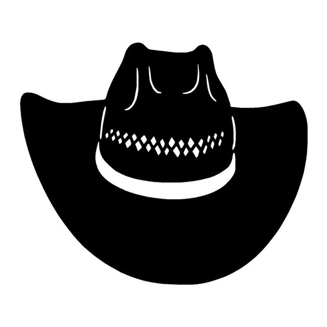 18 15 CM Interessante Ocidental Chapéu de Cowboy de Rodeio Adesivos de  Carro Decalques de 9fc75f34d13