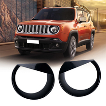 2PCS X ABS Angry Bird Headlight Cover Bezels Trim For Renegade 2015 2016 2017