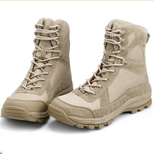 Military Men's Desert Boots Army Special Forces Tactical Combat Autumn High-top Shoes Wearable Footwear US Size 6 7 8 9 10 11 12