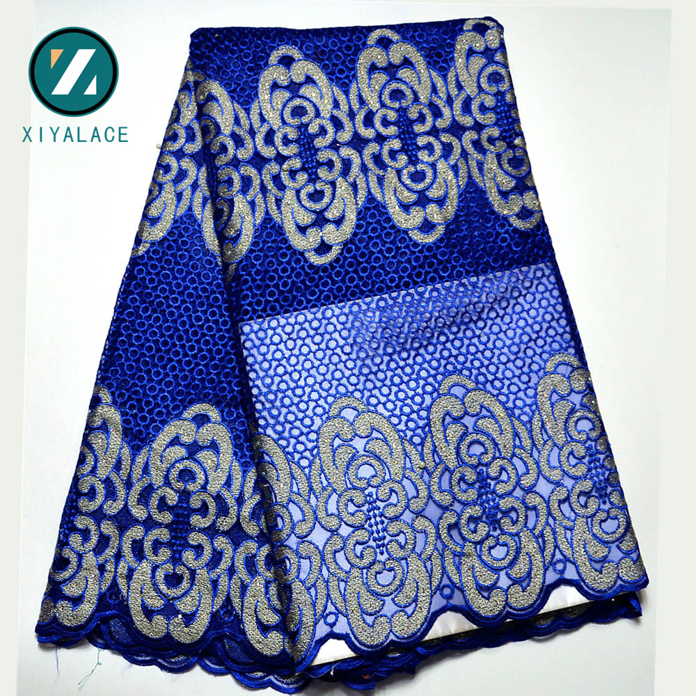 Latest Net French Lace Material High Quality French Net African Lace Fabric With Stone Nigerian Wedding African Lace PGC166B 4-in Lace from Home & Garden    1