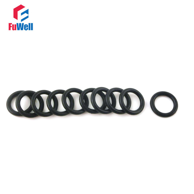 200pcs 2.5mm Thickness Black Rubber O ring Seals OD 17/18/19/20/21 ...