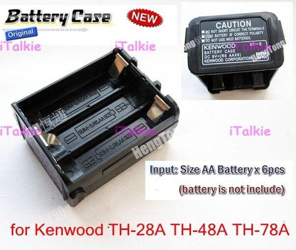bilder für Batterie fall bt-8 für kenwood th-28a th-48a th-78a unterstützung 6 aa batterie zwei-wege-radio walkie talkie
