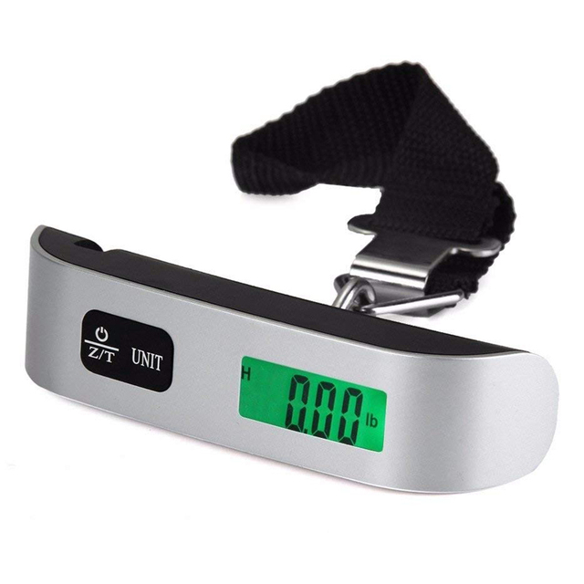 110lb/50kg Luggage Scale Electronic Digital Portable Suitcase Travel Scale Weighs Baggage Bag Hanging Scales Balance Weight LCD
