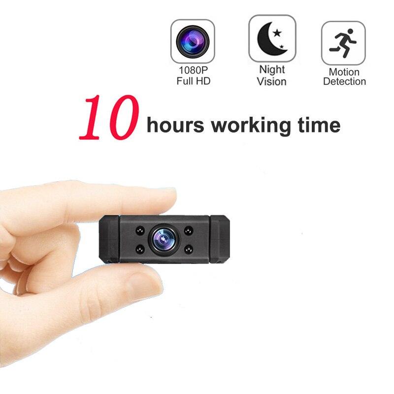 De travail 10 heures 1080 P Infrarouge de Vision Nocturne Mini DV Caméra nounou Numérique Micro Cam Détection de Mouvement Mini Caméscope pk SQ8 SQ11