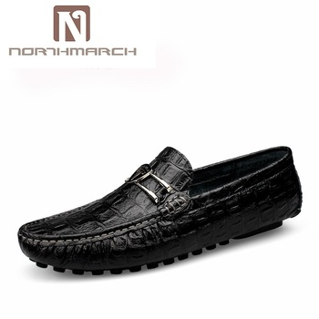 NORTHMARCH Shoes Men Genuine Leather Fashion Brand Mens Loafers Leather Slip-On Men Shoes Breathable Boat Shoes Mocassin Homme personalized tassel rivet fashion breathable slip on genuine leather men shoes rhinestone handmade casual party nightclub shoes