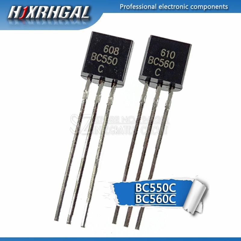 50PCS BC550C + BC560C Each 25pcs BC550 BC560 TO92 Transistor DIP-3 45V 0.1A TO-92 New Original HJXRHGAL