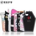 Capa para iphone 5s 3d caixa de leite bonito soft case para apple iphone se 5s 5c cat xícara de café garrafa de veneno bye silicone telefone casos