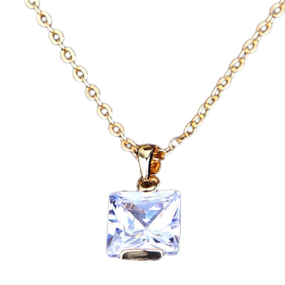 2018 Hot Simple Design Square Zircon Choker Necklace Women  Crystal Pendant Necklace Elegant And Gernous Necklace