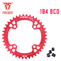 PASS QUEST narrow wide chainring sprocket 104BCD MTB mountain bike bicycle 32T 36T 40T 42T 46T 48T crankset tooth plate parts