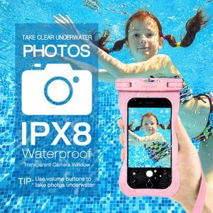 Image 2 - 4pcs Mpow PA132 IPX8 กันน้ำโทรศัพท์กรณีกระเป๋า Universal Universal สำหรับโทรศัพท์มือถือขนาด 6.5 นิ้วปุ่ม Home Cutout Take ภาพใต้น้ำ