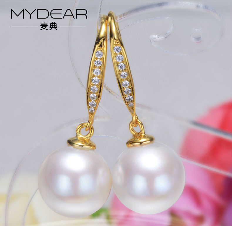 gold freshwater pearl earrings jewelry 11
