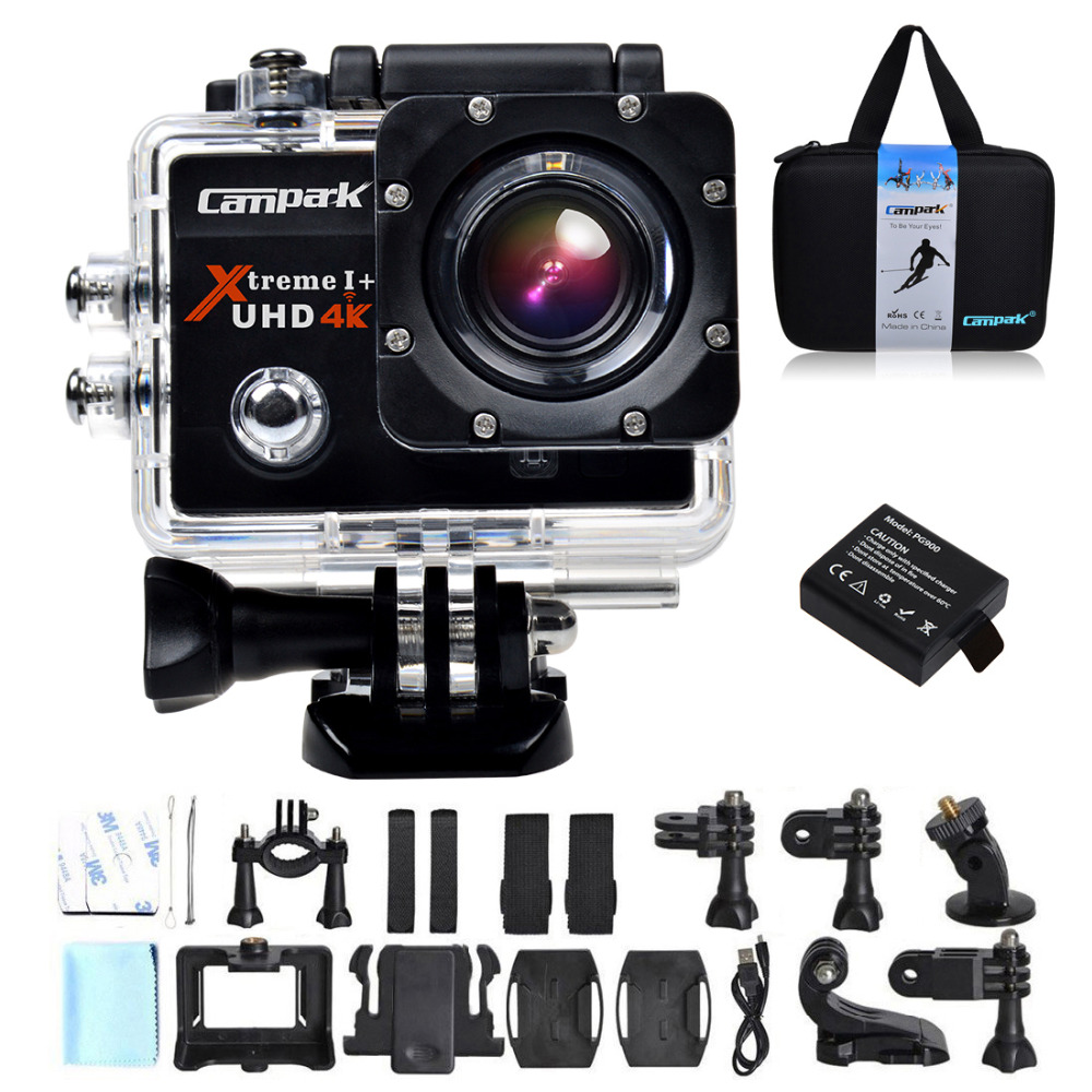 Campark Act74 4k 30fps 20 Lcd Wifi Sport Action Camera Diving 30m 0in Ultrahd Kamera Waterproof Helmet Cam Dv In Sports Video From Consumer