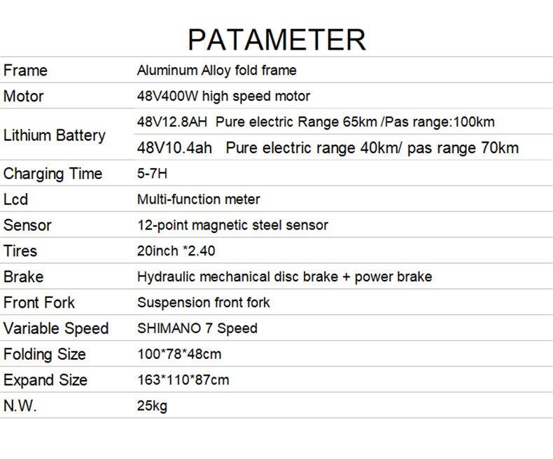 HTB15g6najzuK1RjSsppq6xz0XXae - 20inch folding electric mountain bicycle 48V400W high speed motor e-bike range 70-100km lightweight Hybrid  EMTB electric bike