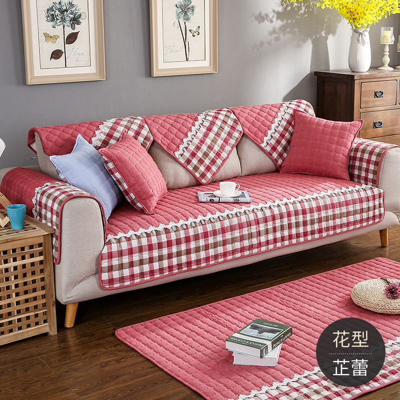 Inight 2018 New Printed Sofa Cover Set Polyester Cotton