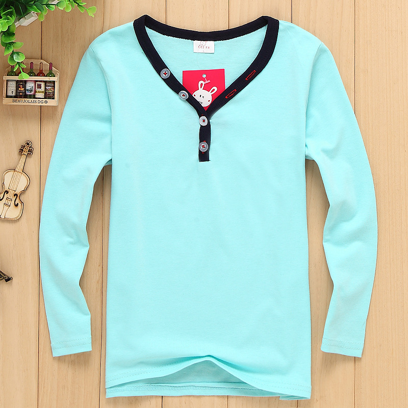 8a5de9411 Factory direct explosion models Korean children's clothing fashion wild  boys pure ribbon twisted V neck long sleeved shirt big v-in Hoodies &  Sweatshirts ...