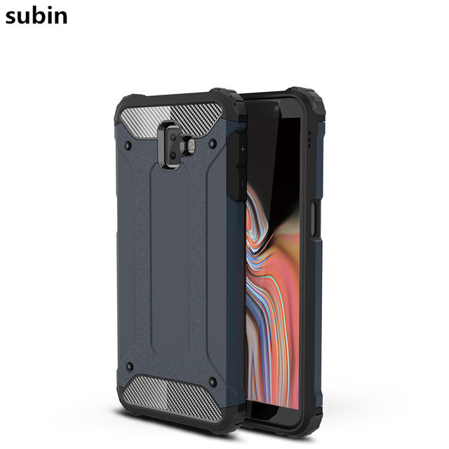 free shipping d2b71 76633 US $3.03 11% OFF For Samsung Galaxy J6 Plus case cover funda 2018 New  Luxury Shockproof bumper protect J610F J610 SM J610F case back cover  coque-in ...