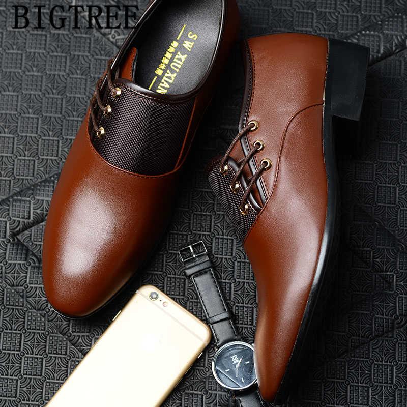 Italiaanse man schoenen bruin oxford schoenen voor mannen zapatos de hombre de vestir formele schoenen mannen jurk tenis masculino adulto