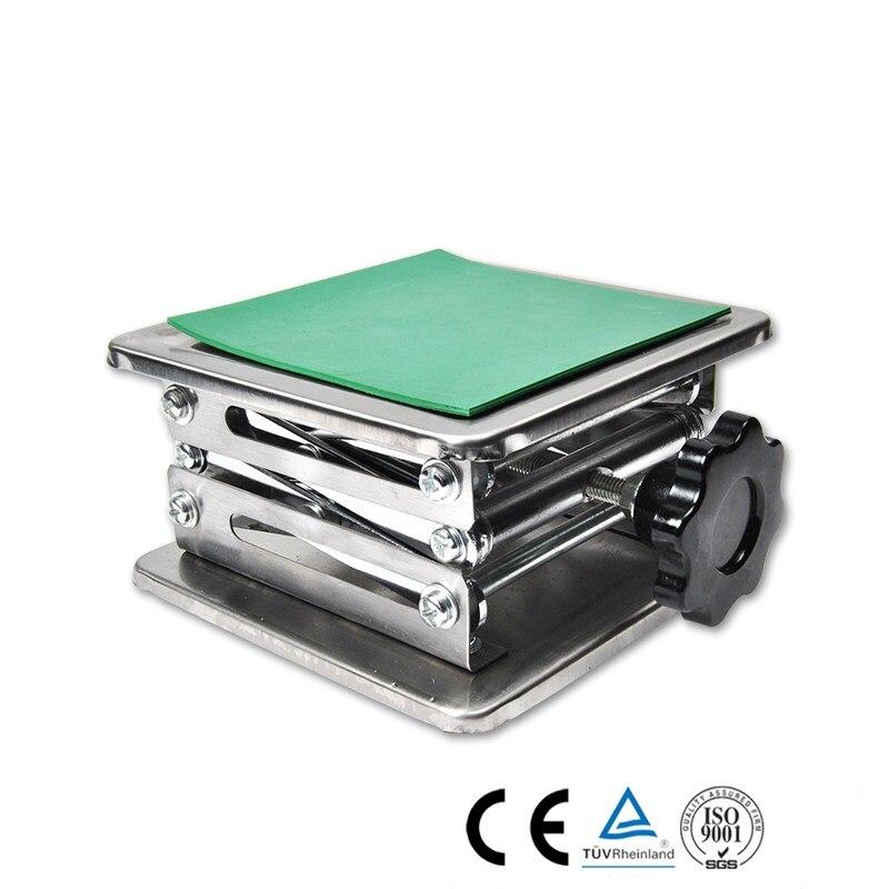 Laboratoire Jack laboratoire Support vérins 200x200x280mm en acier inoxydable peinture Table élévatrice plate-forme de levage 8''inch exportation vers l'europe