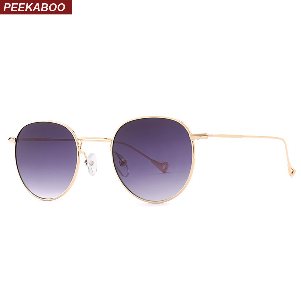 Peekaboo blue tinted sunglasses men green thin metal yellow clear sun glasses for women gold frame uv400