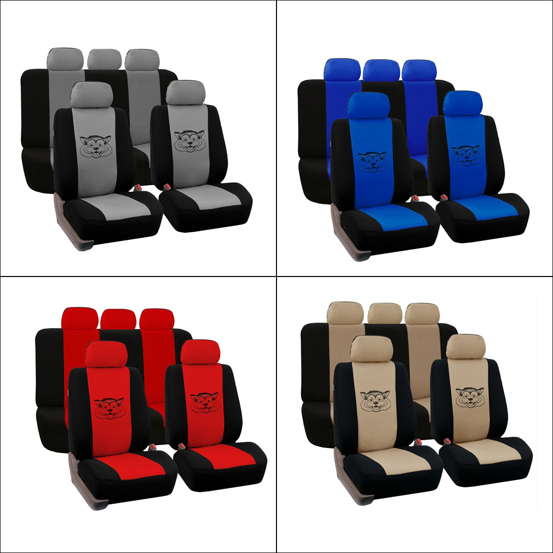 Dewtreetali Universal Four Seasons Car Seat Cover Auto Seat Protector Interior Decoration Accessories Car-Styling for Toyota VW