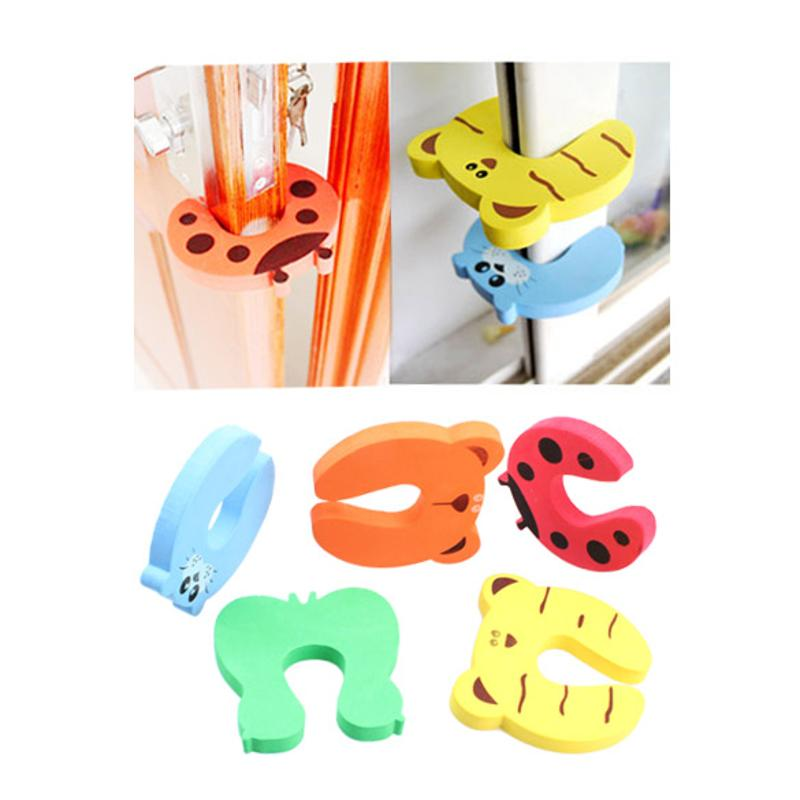 4pcs/Set Children Baby Safety Door Stop Lock Edge Corner Guards Finger Pinch Protection From Children Safety Lock Random Color