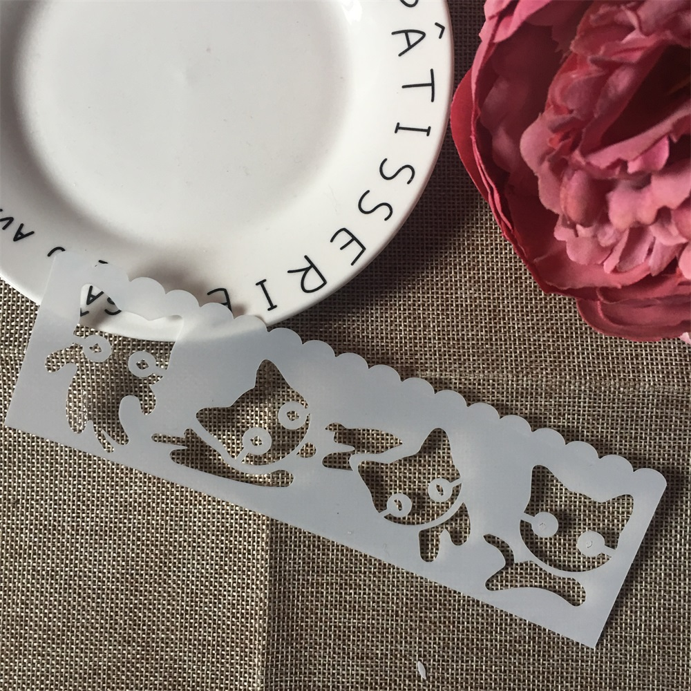 1Pcs 18x5cm Playing Cat DIY Craft Layering Stencils Wall Paint Scrapbook Stamp Embossing Album Decorative Card Template