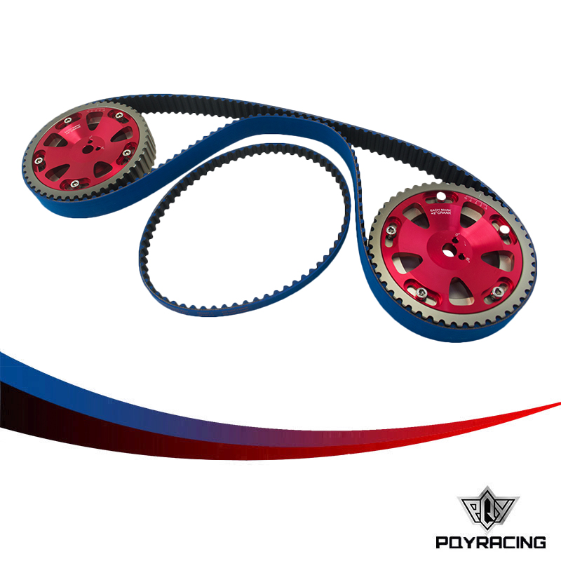 PQY RACING- HNBR Racing Timing Belt + Balance + Aluminum Cam Gear FOR EV01-3 4G63 PQY-TB1007B+6538R dali 17 1 4а