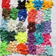 100 полные наборы пуговицы для аксессуары botones decorativos Кам T5 кнопки пластиковые защелки высокого качества бутона под давлением от пыли