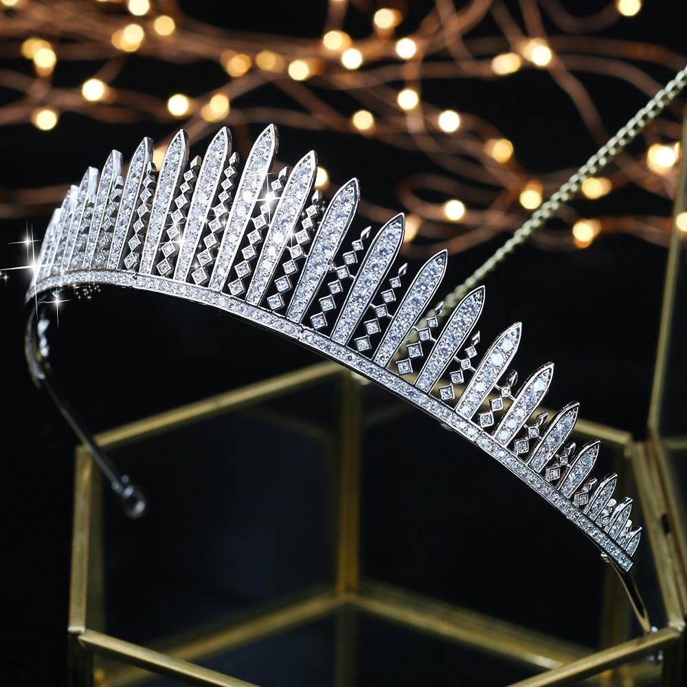 ASNORA Fashion Crown for Brides Zircon Wedding Tiaras Bridal Crowns Hair Jewelry diadema coroa de noiva