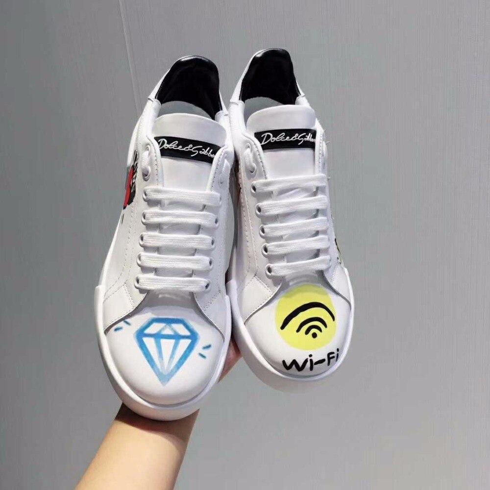 Femenino Zapatos Roma Graffiti As Tipo Pic Zapatillas Pisos De Cuero Tenis Deporte Mujer Sw1nvrxS