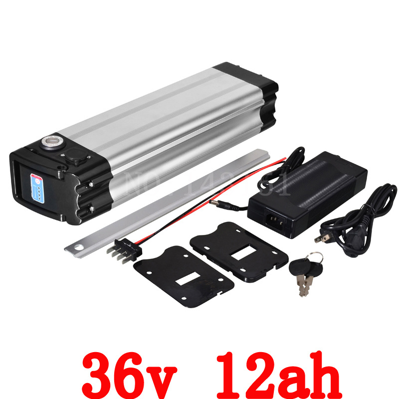 36V electric bike battery 36V 12AH 500W silver fish Battery 36V 12AH Lithium battery with 15A BMS 42V 2A Charger Free customs 36V electric bike battery 36V 12AH 500W silver fish Battery 36V 12AH Lithium battery with 15A BMS 42V 2A Charger Free customs