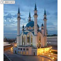 DIY Diamant Stickerei Volle Harz Platz 5D Pastd Diamant Muster Kul Sharif Moschee Diamant Strass Mosaik LK1