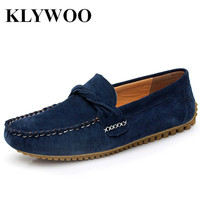 KLYWOO Genuine Leather Mens Shoes Casual Fashion Men Loafers Moccasins Slip On Men Causal Driving Shoes Breathable Moccasins