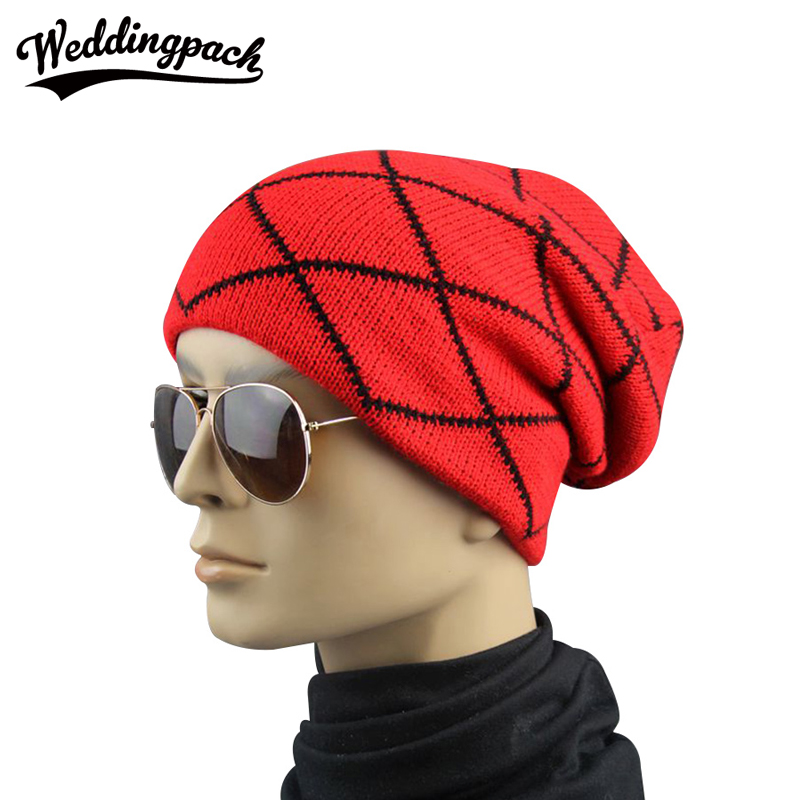 Crochet Unisex Beanie Cotton Plaid Striped Women Beanie Hats Hip Hop Hat Warm Knit Cap Autumn Winter Touca Gorro Caps For Men winter warm unisex women men knit crochet slouch hat cap beanie hip hop hats