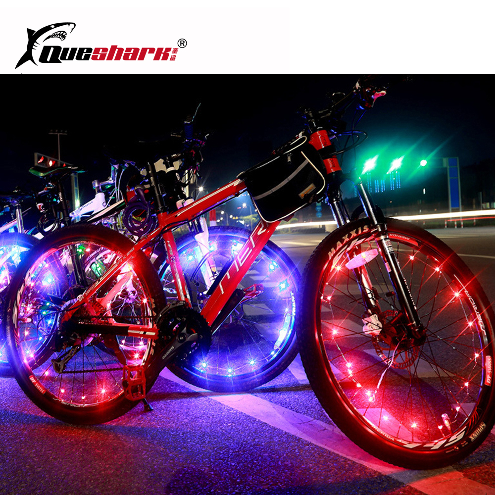 20 LED Colorful Bicycle Lights Mountain Road Bike Light Cycling Spoke Wheel Lamp Bike Accessories Luces Led Bicicleta Bisiklet(China)