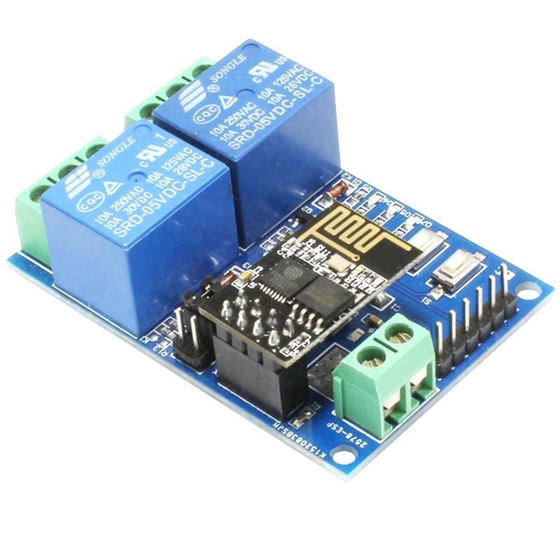 5 V ESP8266 ESP-01 2 canal módulo de relé WiFi 2-módulo de relé de canal para IOT Smart Home Phone APP controlador