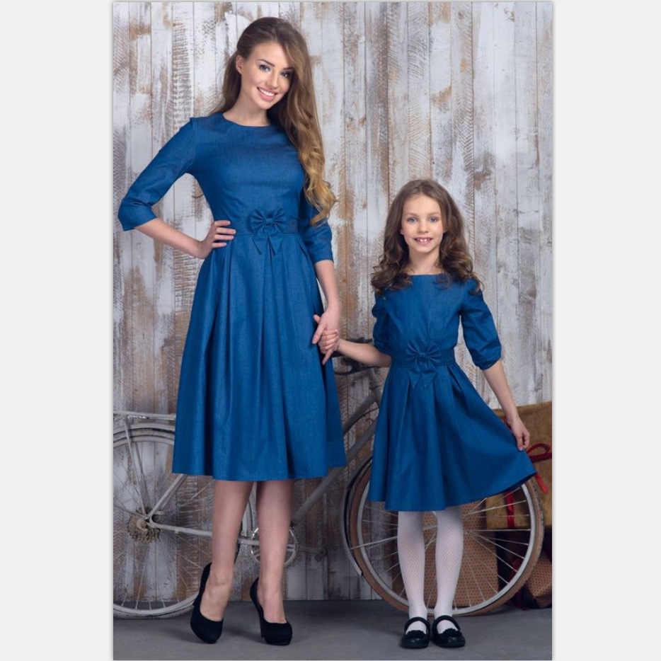แฟชั่นแม่ลูกสาวชุด mommy และ me เสื้อผ้าครอบครัวดูตรงกับชุดแม่แม่และลูกสาวชุดเดรสเสื้อผ้า