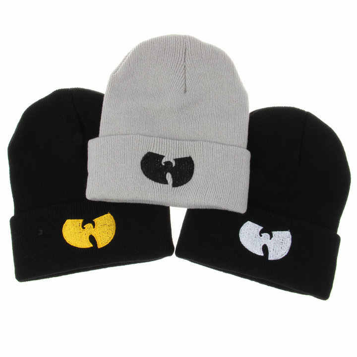 3 ألوان النساء قبعة مع وو تانغ عشيرة الدافئة الشتاء القبعات للنساء الرجال قبعة الحياكة الصوف الهيب هوب قبعة الذكور Gorros دي لانا