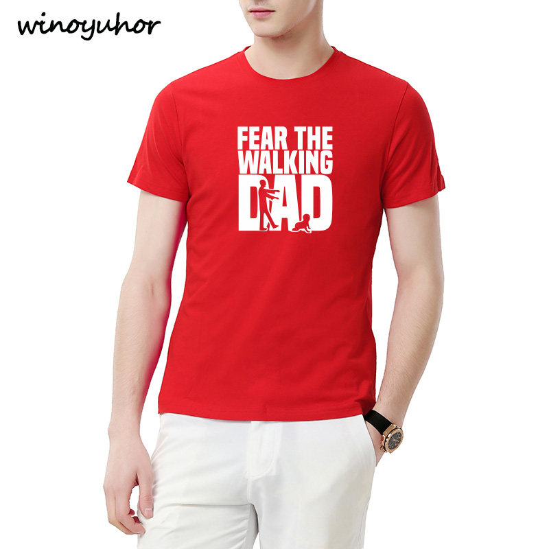 4e9f5aeaf Fear The Walking Dad T Shirts Men Tops Casual Cotton Father's Day T Shirts  Short Sleeve Men Funny Dad Gift T-shirt Tee