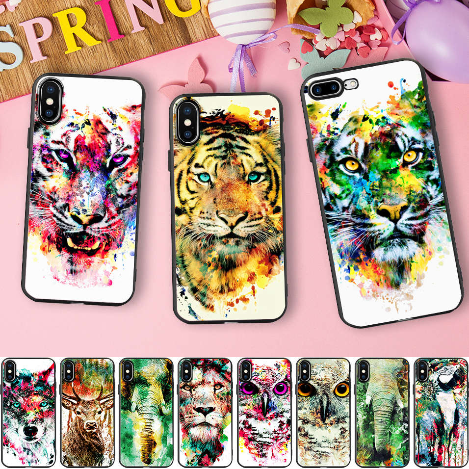 Half-wrapped Case Reliable Yinuoda Lovely Cartoon Elephant Cute Rabbit Novelty Fundas Phone Case For Iphone 8 7 6 6s Plus X Xs Max 5 5s Se Xr 10 Cases 100% Guarantee Cellphones & Telecommunications