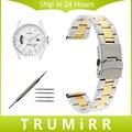 18mm 20mm 22mm 24mm de Acero Inoxidable Reloj Band + Herramienta para citizen hombres mujeres hebilla de la correa de seguridad pulsera de oro negro de plata