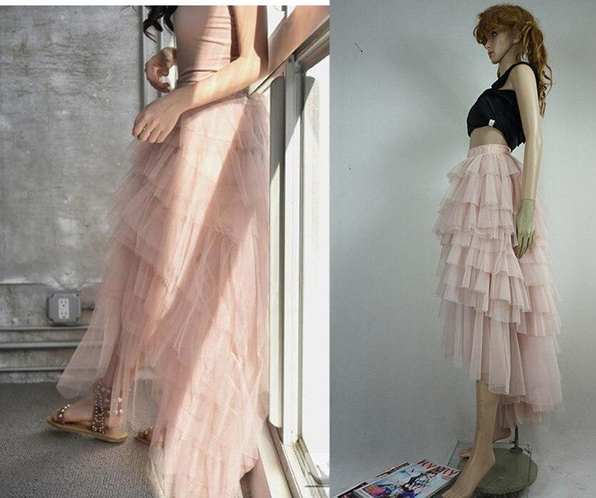 Jupe 2016 Court De En Avant Blanc Rose Belle La Retour Plus vert Femmes Princesse Noir Noir Jupes Taille Long Longue Taffetas Tulle rose xZZ0Fq7Y