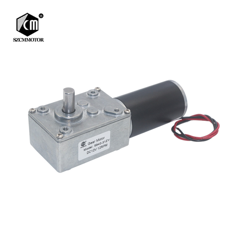 5840-31zy DC12V 24V Powerful Torque Turbo Worm Geared Motor Type-D Shaft High Power Reversed Low Speed Big Worm Gear Motor
