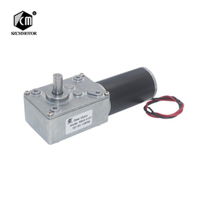 5840-31zy DC12V 24V Powerful Torque Turbo Worm Geared Motor Type-D Shaft High Power Reversed Low Speed Big Worm Gear Motor(China)