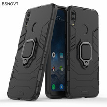 Cover Huawei Y7 2019 Case Magnetic Armor Finger Ring Shockproof For DUB-LX1 BSNOVT