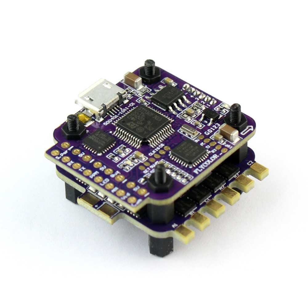 Raptor S-Tower 12A 4 in 1 2-3S 12A BLHeli-S ESC Speed Controller Built-in/No OSD Version for Mini Drones Multirotors F21260/61